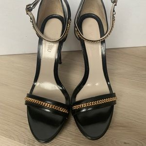 Jason Wu heels with gold chain strap